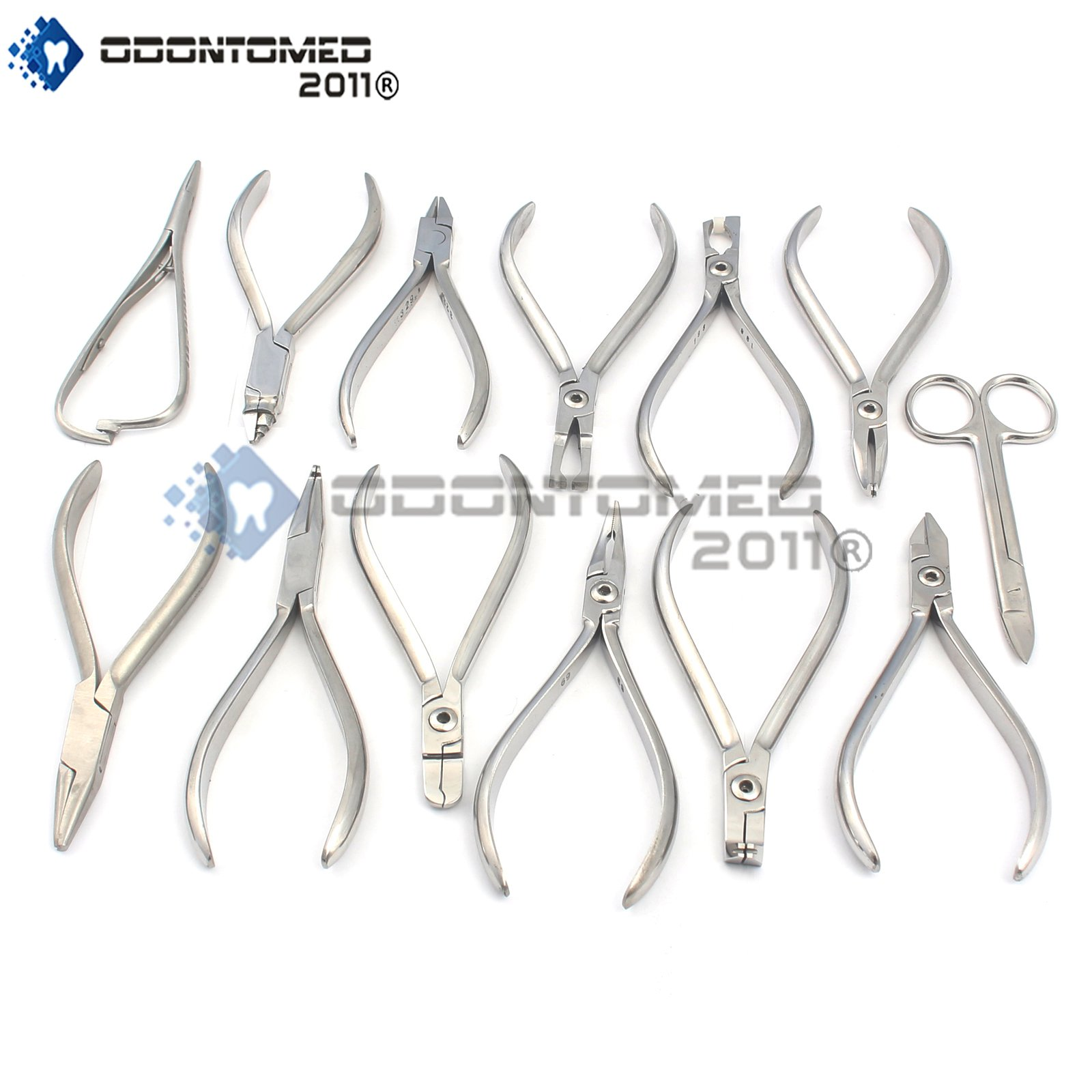 OdontoMed2011 Set of 13 Orthodontics SCISORS Bracket Holder Wire Bender Pliers ODM by OdontoMed2011 (Image #1)