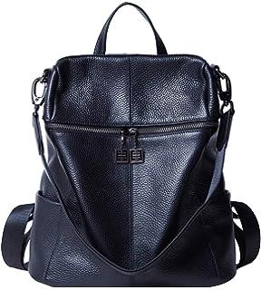 0350e9c26617 BOYATU Convertible Genuine Leather Backpack Purse for Women Fashion Travel  Bag