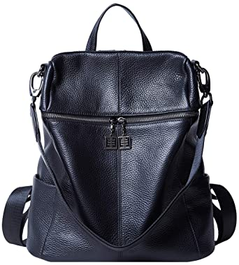 29e0c58d16 Amazon.com  BOYATU Convertible Genuine Leather Backpack Purse for Women  Fashion Travel Bag  Clothing