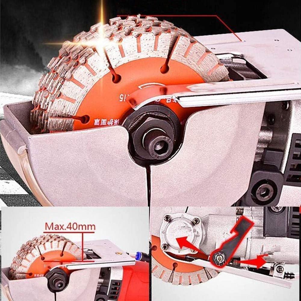 Rainureuse /à Coupe Kacsoo 4000W 6500r//min 5 Disques Diamant Rainureuse Murale D/écoupeuse de Cannelure de Mur Rainure Diam/ètre Machine /à Rainurer /Ø 125 mm B/éton