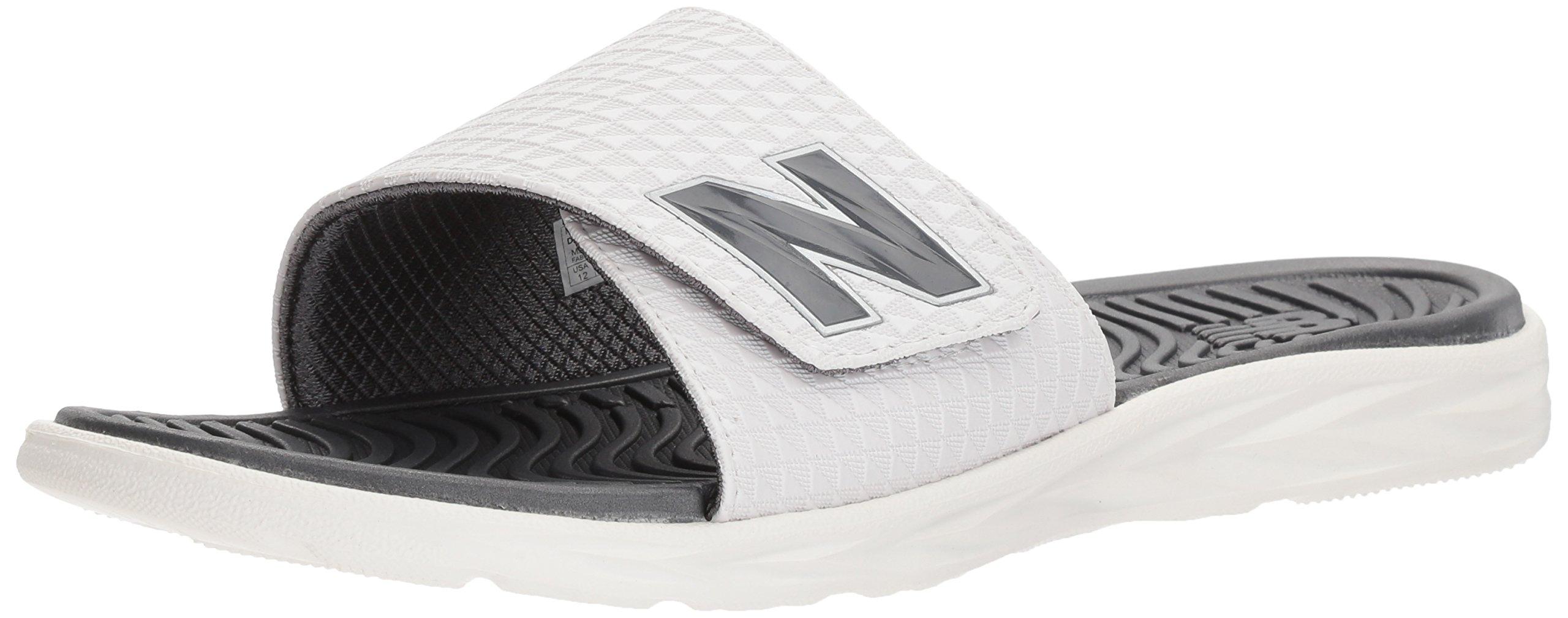 New Balance Men's Response Slide Sandal, White, 15 D US