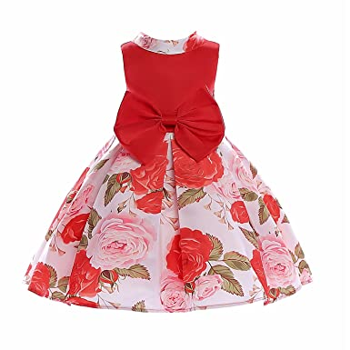 AnKoee Kids Girl Princess Swing Party Dress, for 2-11 Years Old Girls Lovely Formal Pageant Holiday Wedding Bridesmaid Flower Lace Dress: Amazon.co.uk: ...