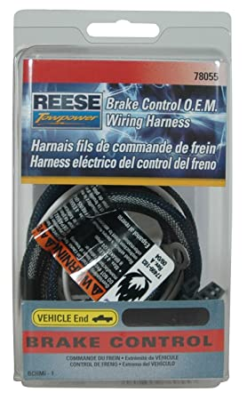 amazon com reese towpower 78055 brake control wiring harness for