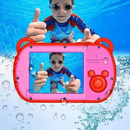 Kids Digital Camera 21MP HD Underwater Action Camera Camcorder 2.0 inch LCD Screen Waterproof Digital Camera Kids 8X Digital Zoom Free 16GB Memory Card