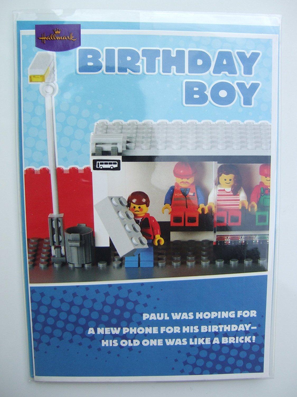 Lego Tarjeta de cumpleaños de niño de Hallmark: Amazon.es: Hogar