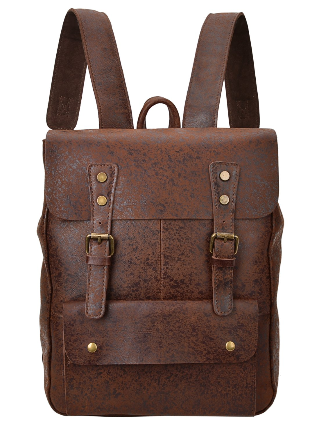 ALTOSY Vintage Genuine Leather Backpack College School Bookbag Travel Rucksack 8175 (coffee) by ALTOSY