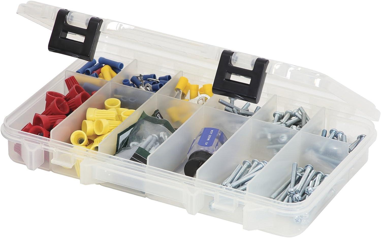 Plano polizón Tackle Caja con 12 Compartimentos, Transparente: Amazon.es: Deportes y aire libre