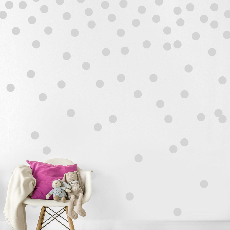 Vinilo Decorativo Pared [1BNWDTLK] 200 Lunares grises 5cm