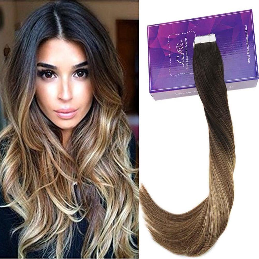 Amazon Laavoo 14 20pcs50g Tape In Extensions Balayage Ombre