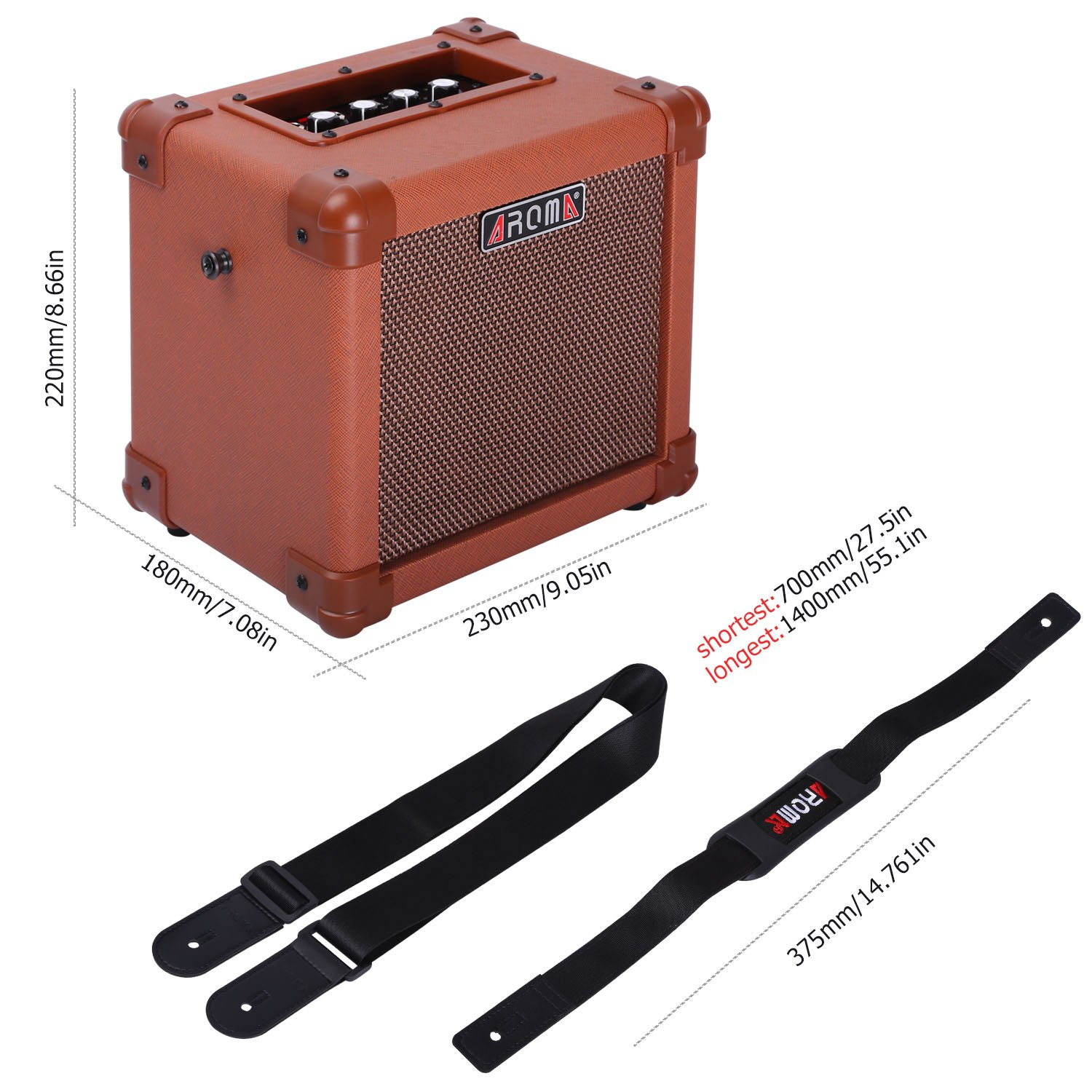 Amazon.com: Aroma Acoustic Guitar Amp 10W Guitar Amplifier Speaker Box Handy Portable Acoustic Guitar AMP Sound for Guitar Bass(Brown): Musical ...