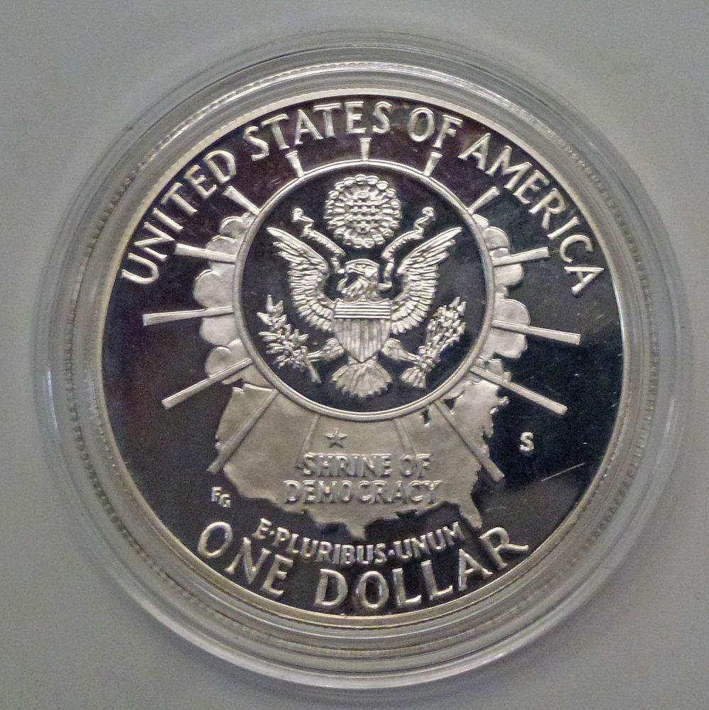 1991 S Mt Rushmore Golden Anniversary Dollar Proof US Mint