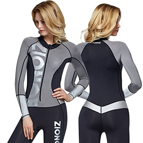 93e65d7084 Amazon.com   Zionor Full Body Sport Rash Guard Dive Skin Suit for Swimming  Snorkeling Diving Surfing with UV Sun Protection Long-Sleeve for Women    Sports   ...