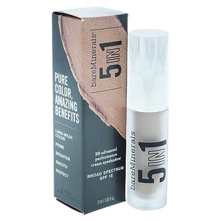 bareMinerals 5-in-1 BB Advanced Performance Cream Eyeshadow SPF 15, Elegant Taupe, 0.1 Ounce