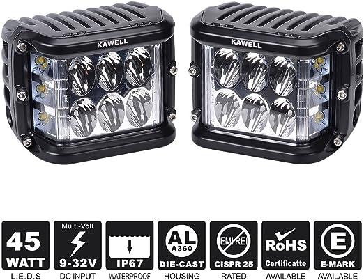8x phares de travail LED 42W BOAT Camion tracteur feux lampe projecteur SUV 12V