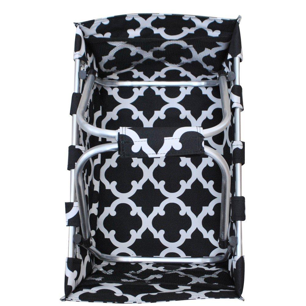 Market Picnic Basket Geometric Themed Prints NGIL Canvas Shopping