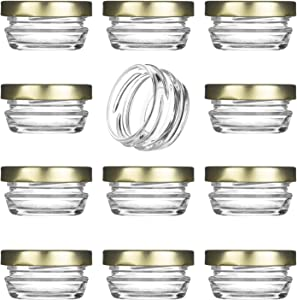 Small Mini Glass Jars With Tin Lids - 12 pack x 1 oz – All Purpose Empty Storage Jars