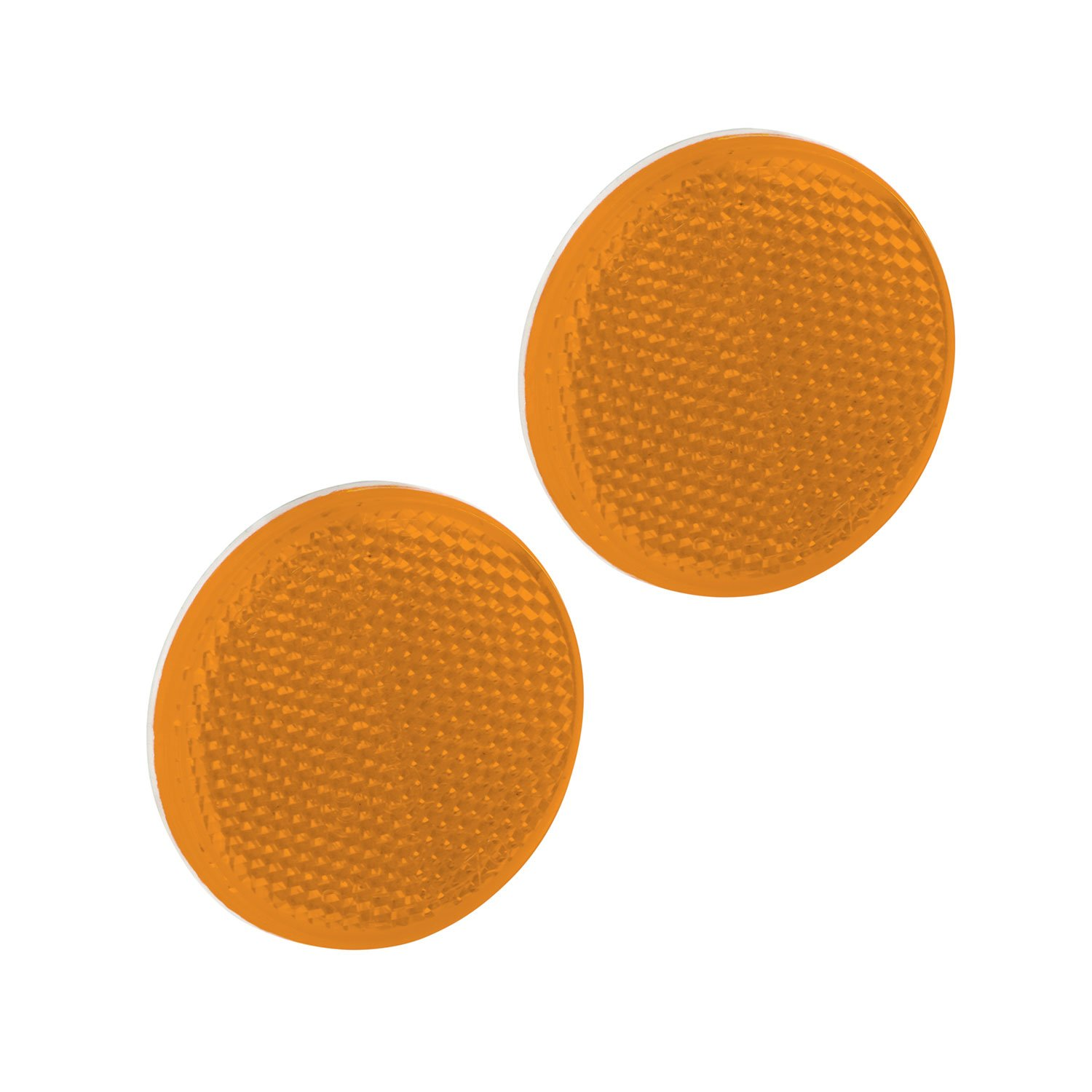 Bargman 74-55-020 Reflector (Class A 2-3/16' Round Amber with Adhesive Back - 2 Pack)