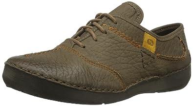 Josef Seibel Fallon - Zapatos con Cordones de Piel Mujer, Color Gris, Talla 44