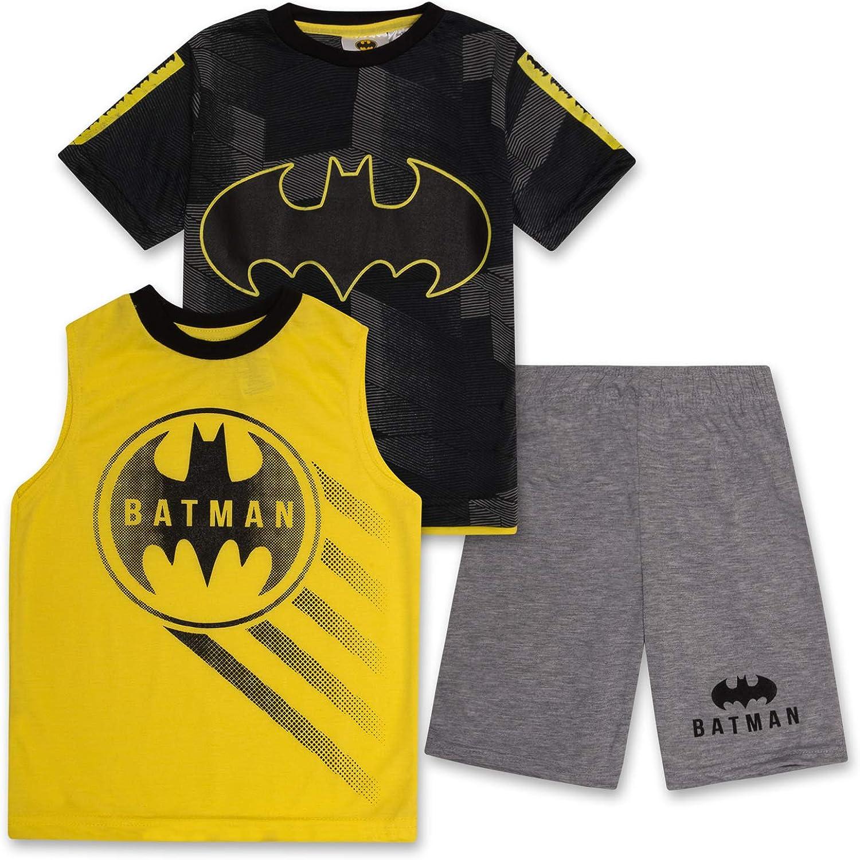 BATMAN T Shirt for Boys, Tank Top and Shorts 3...