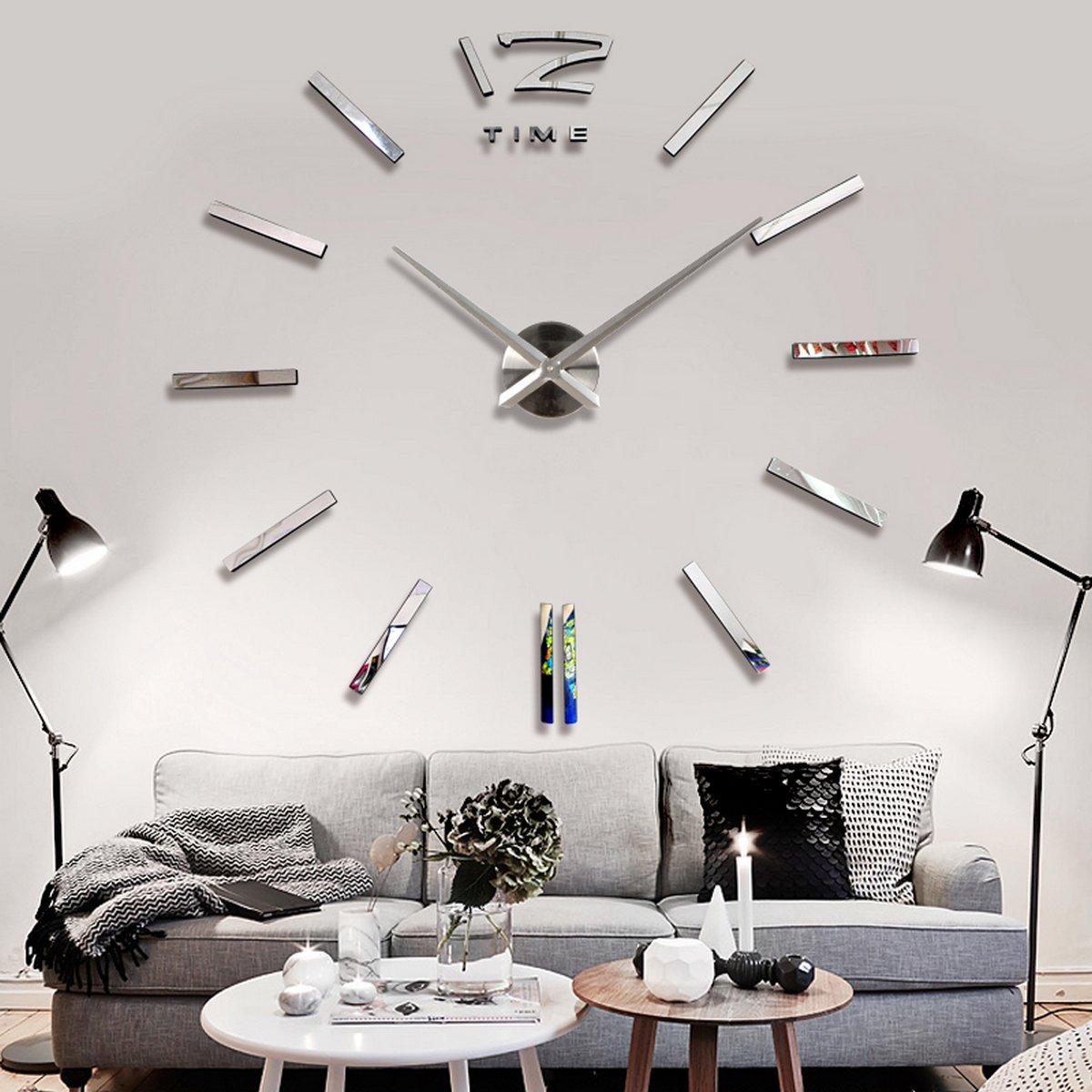 Amazon De Baytter Design Wand Uhr Spiegel Wandtattoo Dekoration
