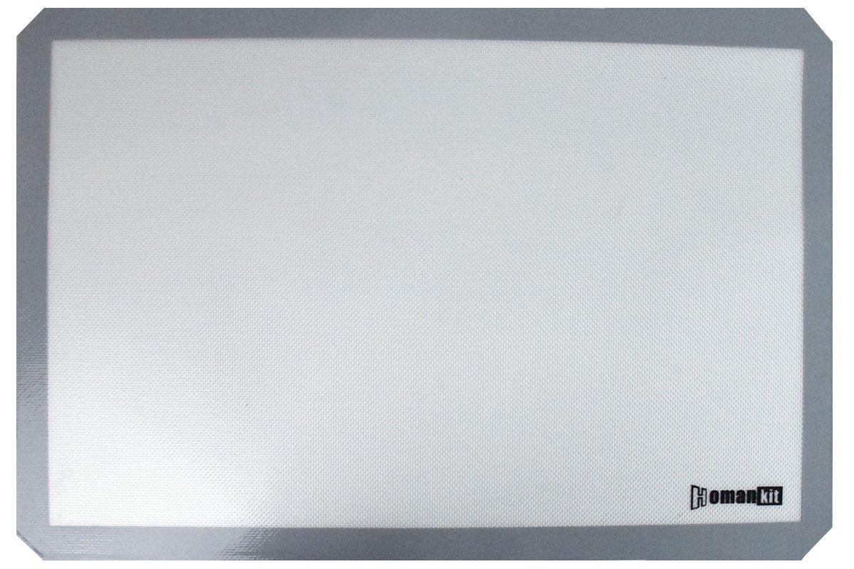 Homankit Silicone Baking Mat, Full Sheet Pan 15 3/4'' x 23 5/8'', Heat Resistance NonStick Reusable AntiSlip Odorless Sheet Grey by Homankit (Image #6)