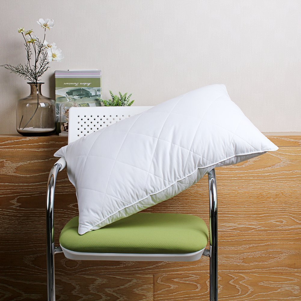L Lovsoul Goose Feather Bed Pillows Medium Firm Feather