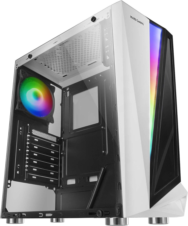 Mars Gaming MCLW, caja PC, cristal templado, ventilador 12cm, 46 ...