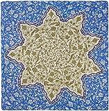 R. Culturi Handmade in Italy Modal Cashmere Luxury Artwork Scarf (Blue/Beige)