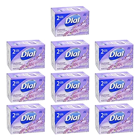 Dial Antibacterial Deodorant Soap Lavender Twilight All Day Freshness 20 Bars