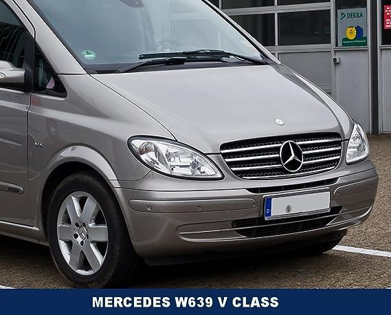 Mercedes-Benz A6388170116 Insignia para capó de Mercedes Vito-V, estilo plano, 2 clavijas: Amazon.es: Coche y moto