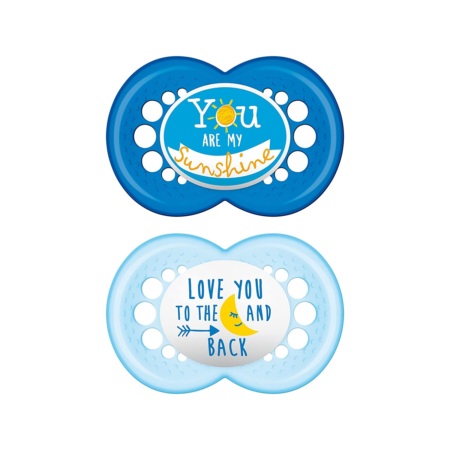 Best Pacifier for Breastfed Babies MAM Pacifier 0-6 Months Baby Boy Pacifier 2 pack, 1 Sterilizing Pacifier Case Designs May Vary MAM Attitude Collection Pacifiers