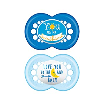 MAM Pacifiers, Baby Pacifier 6+ Months, Best Pacifier for Breastfed Babies, Attitude Design Collection,...