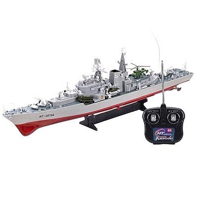 """Smasher Destroyer 31"""" RC HT-2879 War Ship: Toys & Games"""