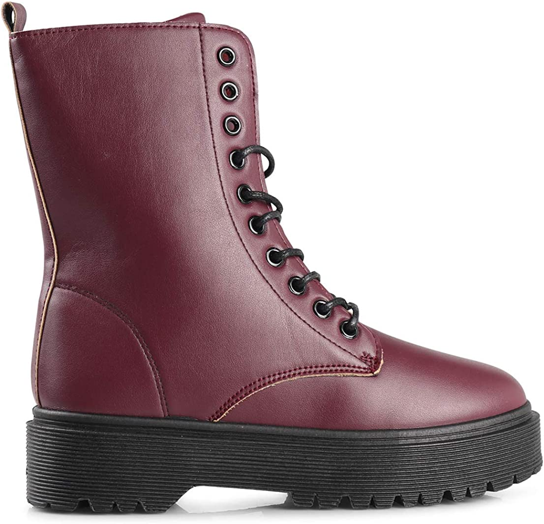 LUSTHAVE womens Bootie Burgundy
