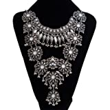Pinbo Vintage Design Silver Turkish Necklace for Women Bohemia Style