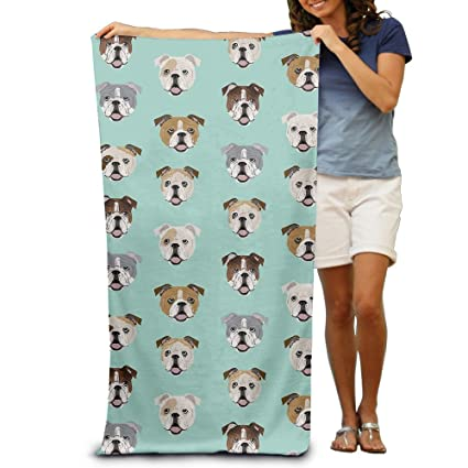 Estúpido Funny Inglés Bulldog toallas de baño toallas de playa de toallitas adultos suave absorbente
