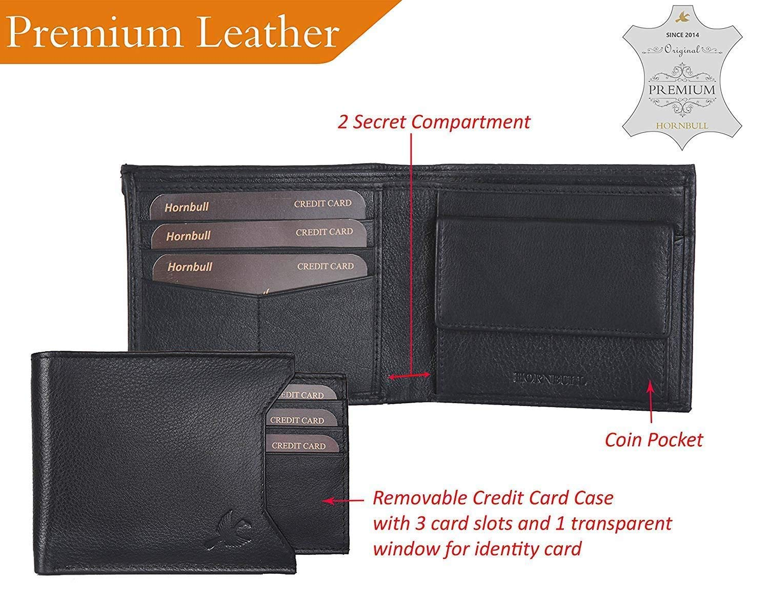 Mens Black Leather Wallet Money Clip Holder Slim /& Stylish Design Letter Print Thin Short Bifold Open Bifold Open With 2 ID Window 8-Card Slots. RFID Blocking