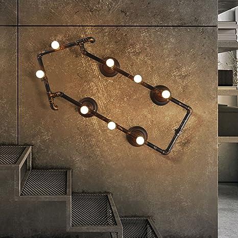 Industrial viento pasillo sala de estar tubo de pared decorativa compleja personalidad creativa tienda de ropa