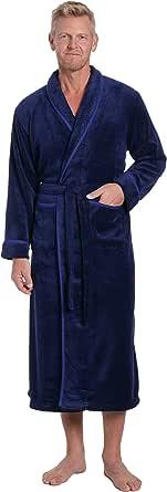 Noble Mount Mens Premium Coral Fleece Full Length Plush Spa/Bath Robe