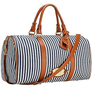 c129155e2b996 Amazon.com | LXY Womens Overnight Weekender Travel Bag Canvas Duffle ...