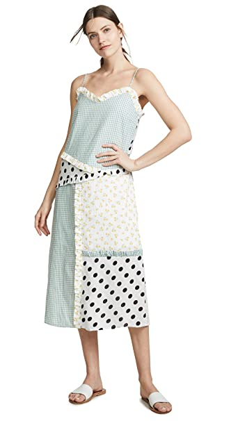 6acab615f4 English Factory Women's Mixed Print Slip Dress, Multi, Small at ...
