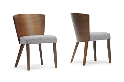 549aaf6561 Amazon.com - Baxton Studio Sparrow Wood Modern Dining Chair, Brown ...