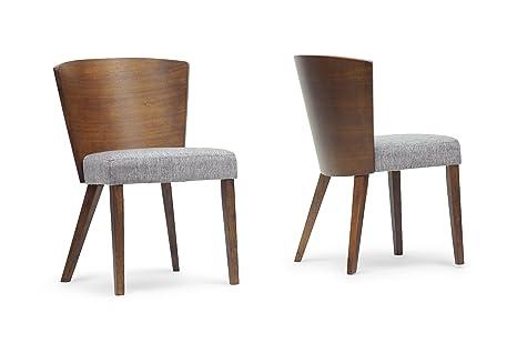Enjoyable Baxton Studio Sparrow Wood Modern Dining Chair Brown Set Of 2 Beatyapartments Chair Design Images Beatyapartmentscom