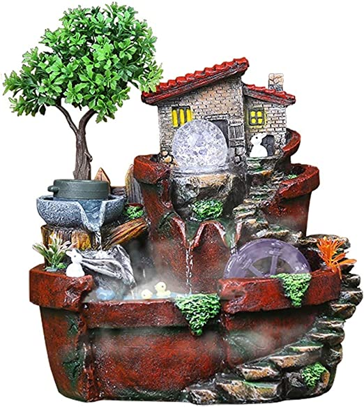 Hogar y cocina Fuentes de interior Fuente de agua de rocalla de ...