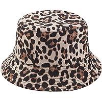 Joylife Leopard Print Bucket HatLepord Print Bucket Hat Trendy Animal Pattern Fisherman Hats for Women Reversible…