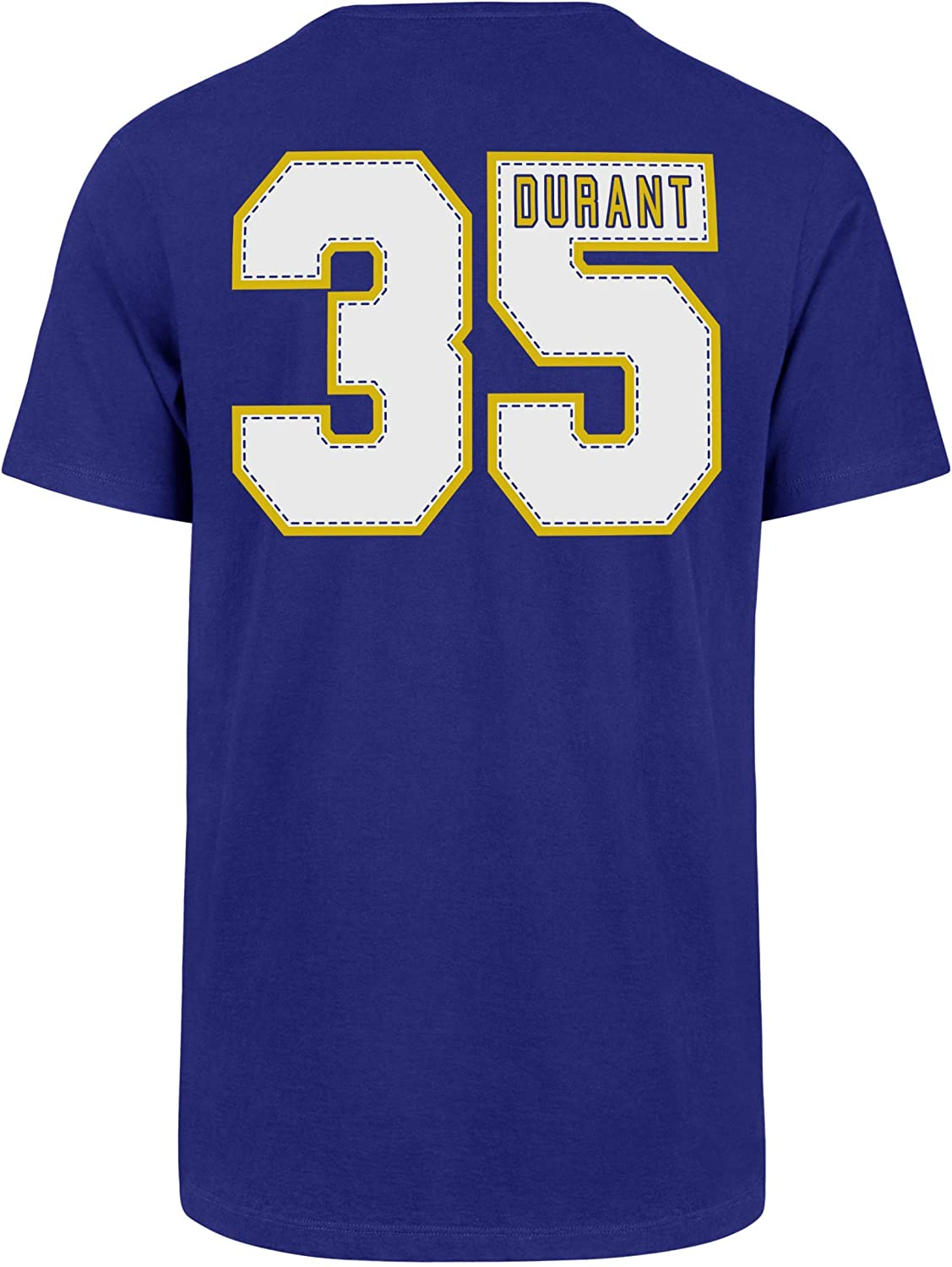 OTS mens Player Rival Tee NBA XX-Large Kevin Durant Royal Golden State Warriors