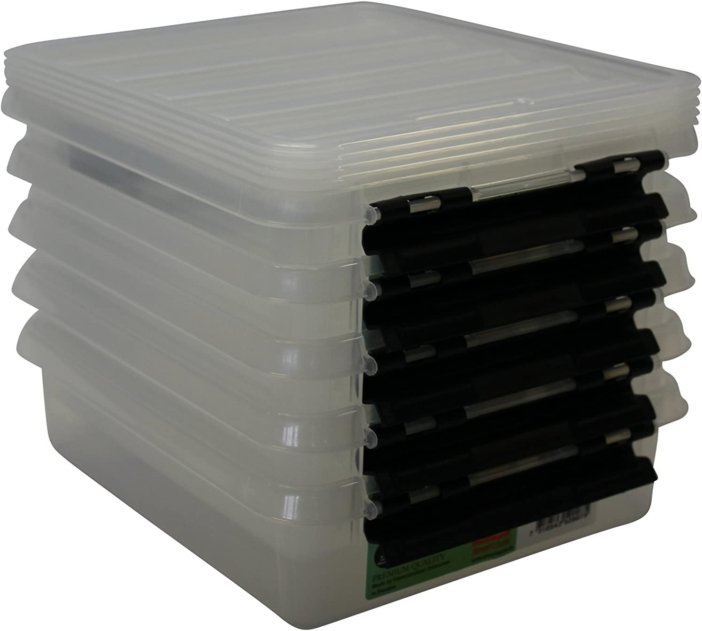 21x17x6 cm Plastik 5-Einheiten Orthex 5er Set Clipbox Smart Store Classic 1 Aufbewahrungsbox transparent