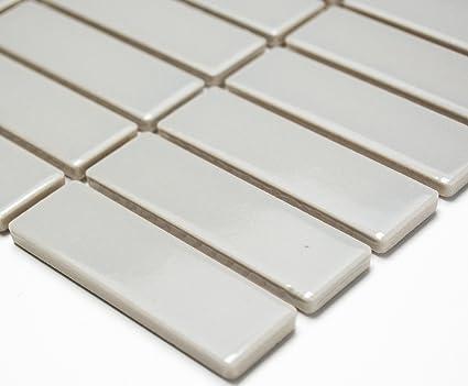 Mosaico piastrelle di rete incenso uni grigio opaco ceramica