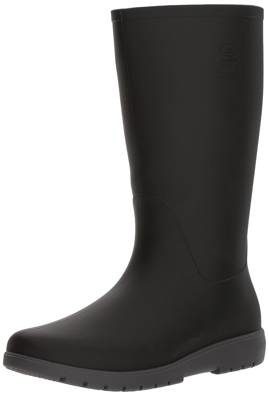 Black & Charcoal Kamik Women's Jessie Rain Boot