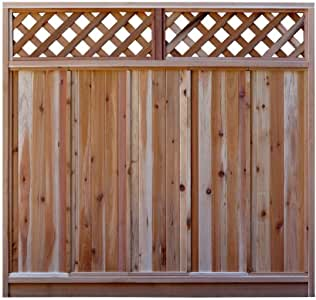 Amazon.com : 6 ft. H x 6 ft. W Western Red Cedar Diagonal